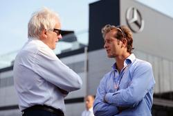 (L to R): Charlie Whiting, FIA Delegate with Jarno Trulli