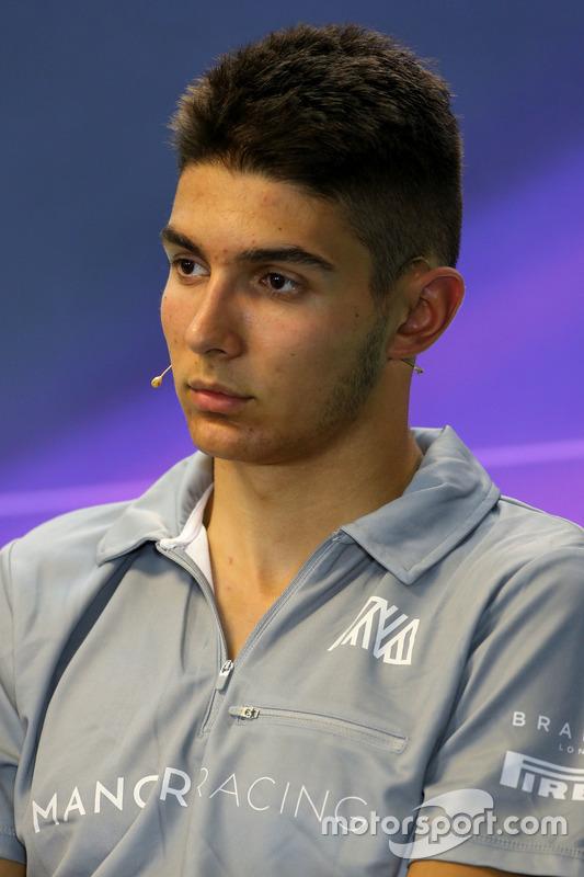 Esteban Ocon, Manor Racing nella Conferenza Stampa FIA
