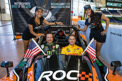 Kurt Busch and Ryan Hunter-Reay with the lovely ROC girls