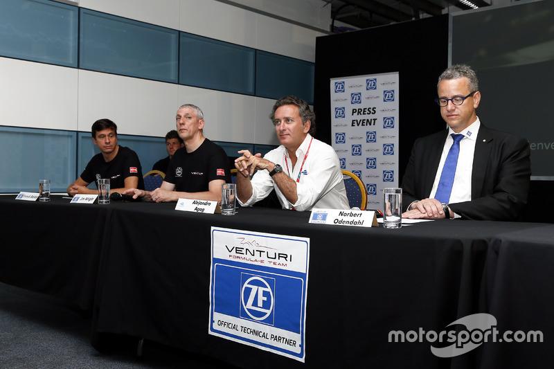 Presentazione della Venturi con Alejandro Agag, CEO della Formula E
