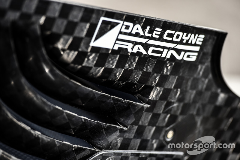 The rear wing of a Dale Coyne Racing Honda