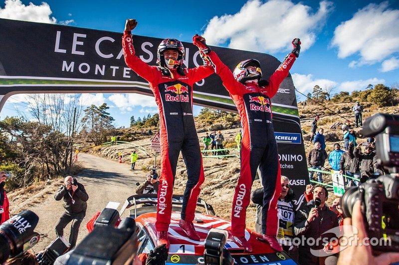Los ganadores: Sébastien Ogier, Julien Ingrassia, Citroën World Rally Team Citroen C3 WRC