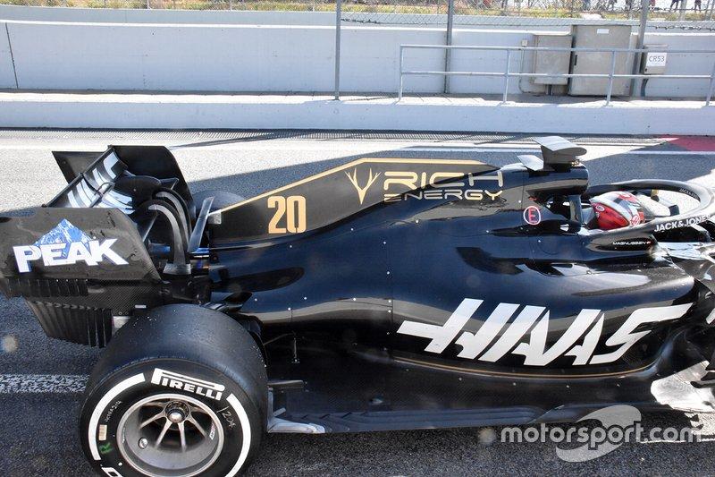 Detalle técnico del equipo Haas