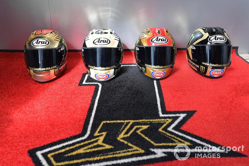 Jonathan Rea, cascos de campeonato de Kawasaki Racing