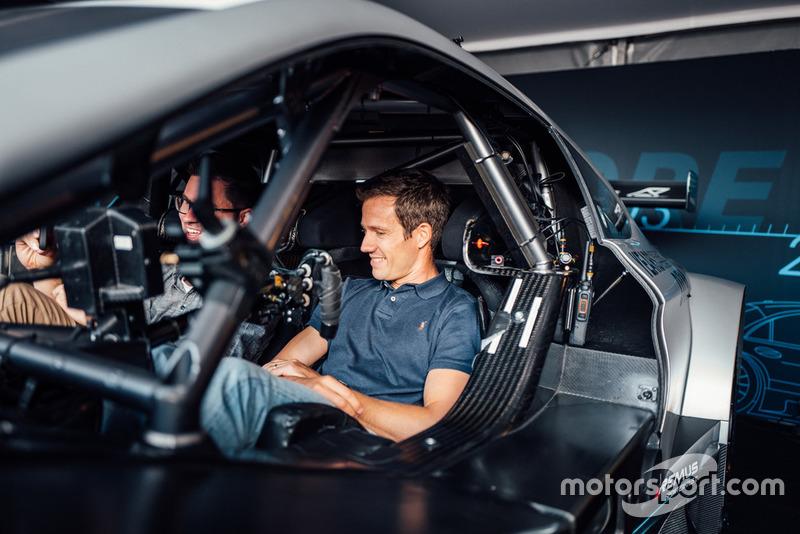Sebastien Ogier in the Mercedes-AMG C 63 DTM