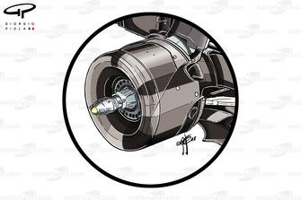 Tambour de frein de la Mercedes F1 AMG W09