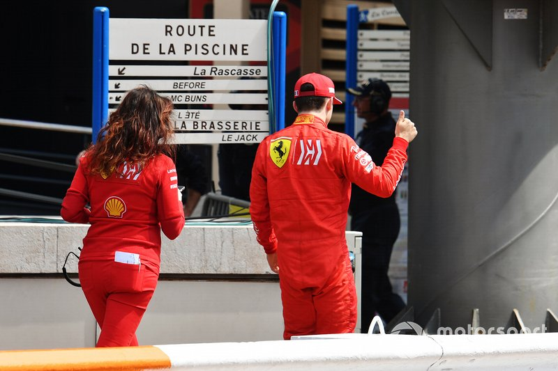 Charles Leclerc, Ferrari after being knocked out in Q1
