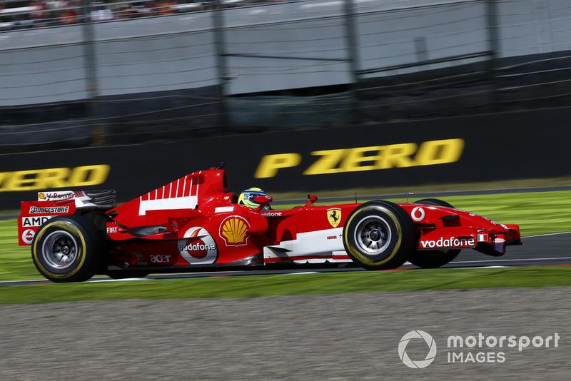 Felipe Massa et Ferrari lors des Legends F1 30th Anniversary Lap Demonstration