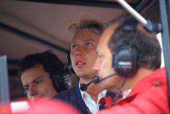Mika Hakkinen with Ron Dennis and Giorgio Ascanelli