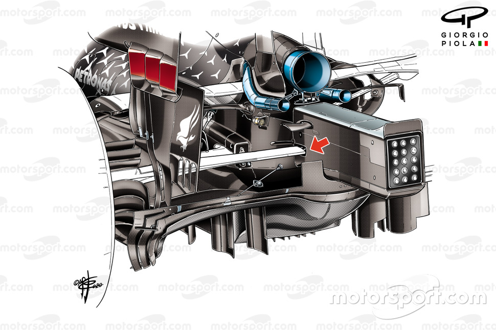 Mercedes AMG F1 W11 rear suspension