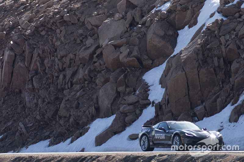 Sam Schmidt drives a Chevrolet Corvette up Pikes Peak
