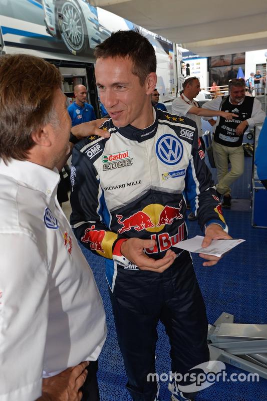 Jost Capito, directeur de Volkswagen Motorsport, avec Julien Ingrassia, Volkswagen Motorsport