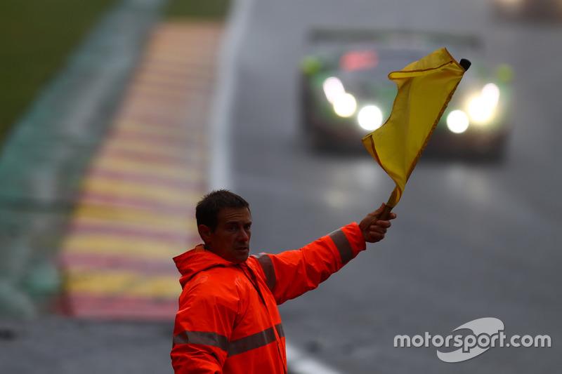 Marshall waves the yellow flag