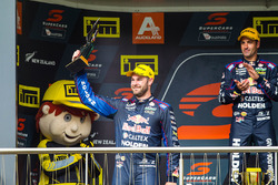 Podium race winner: Jamie Whincup, Triple Eight Race Engineering Holden, second place Shane van Gisbergen, Triple Eight Race Engineering Holden