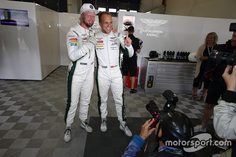 Polesitter GTE AM Class: #95 Aston Martin Racing Aston Martin Vantage GTE: Marco Sorensen, Nicki Thiim