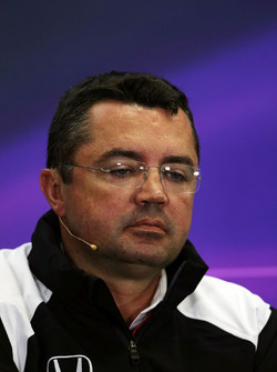 Eric Boullier, McLaren Racing Director in the Press Conference
