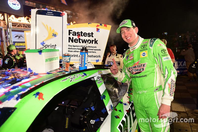 Race winner, Kyle Busch, Joe Gibbs Racing Toyota