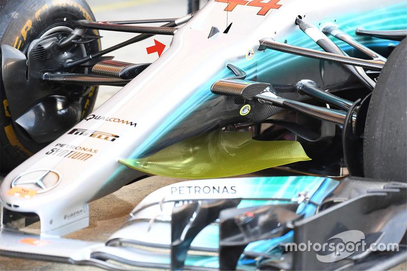 Передняя часть Mercedes AMG F1 W08