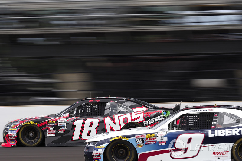 Kyle Busch, Joe Gibbs Racing Toyota William Byron, JR Motorsports Chevrolet