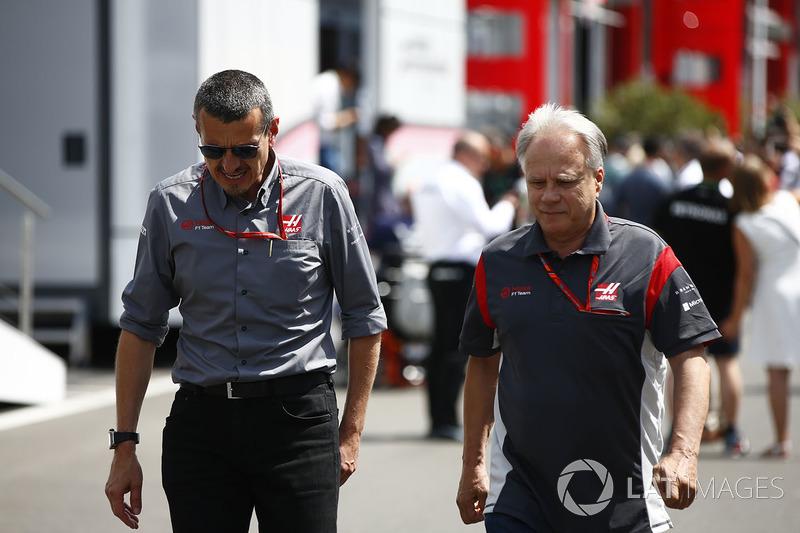 Günther Steiner, Haas-Teamchef; Gene Haas, Haas-Teambesitzer