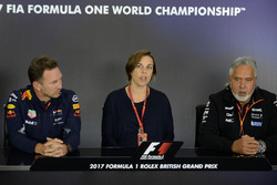Christian Horner, Red-Bull-Teamchef, Claire Williams, Stellvertretende Williams-Teamchefin, Dr. Vijay Mallya, Force-India-Teambesitzer
