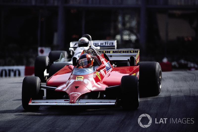 Gilles Villeneuve, Ferrari 126CK; Alan Jones, Williams FW07C