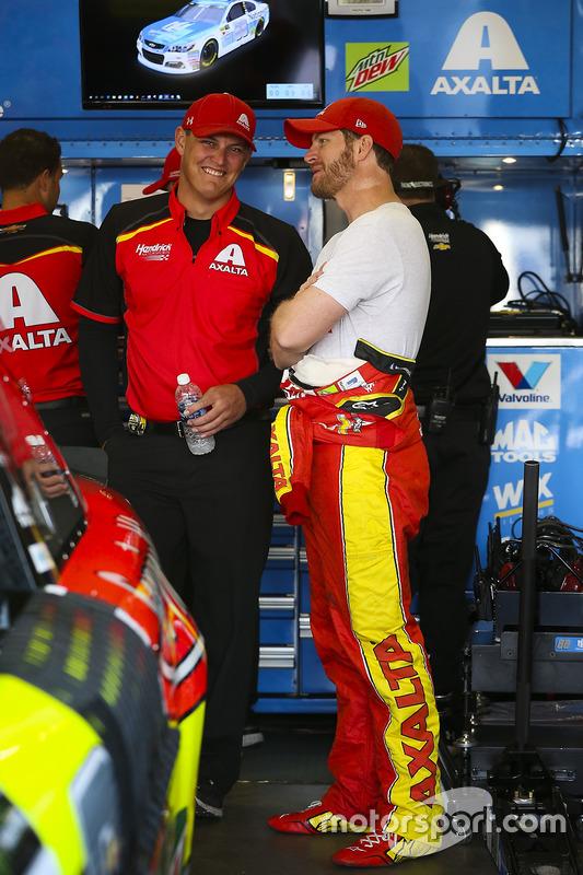 Dale Earnhardt Jr., Hendrick Motorsports, Chevrolet, mit Jacob Engle