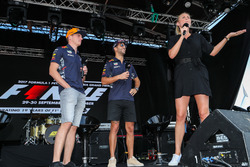 Daniel Ricciardo, Red Bull Racing and Max Verstappen, Red Bull Racing on stage