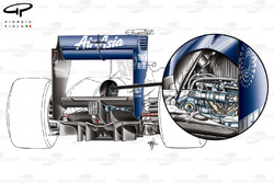 Williams FW32 rear suspension detail (Third element)