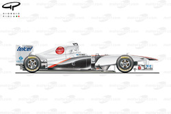 Sauber C30 side view