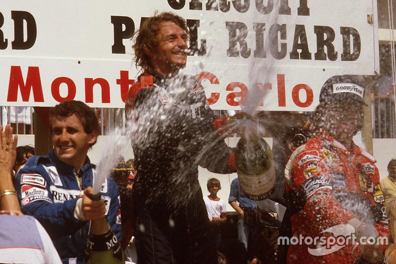 Подіум: переможець Рене Арну, друге місце - Ален Прост, Renault, третє місце - Дідьє Піроні, Ferrari
