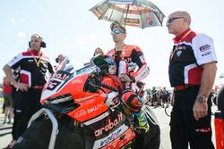 Marco Melandri, Ducati Team  on the grid