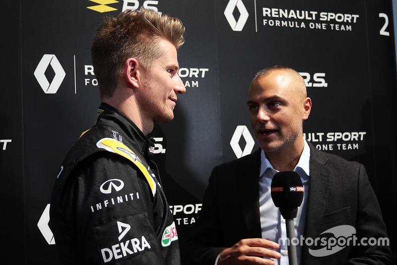 Nico Hülkenberg, Renault Sport F1 Team, mit der Presse