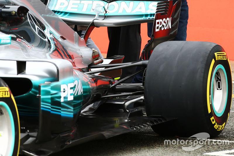 Mercedes AMG F1 W08: Aufhängung