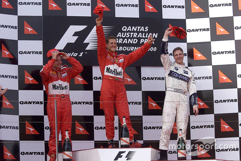 2000: 1. Michael Schumacher, 2. Rubens Barrichello, 3. Ralf Schumacher