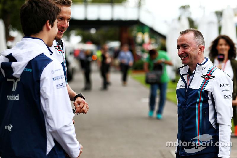 Lance Stroll, Williams, mit Paddy Lowe, Williams-Technikchef