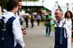 Lance Stroll, Williams left and Paddy Lowe, Williams Chief Technical Officer (Right)
