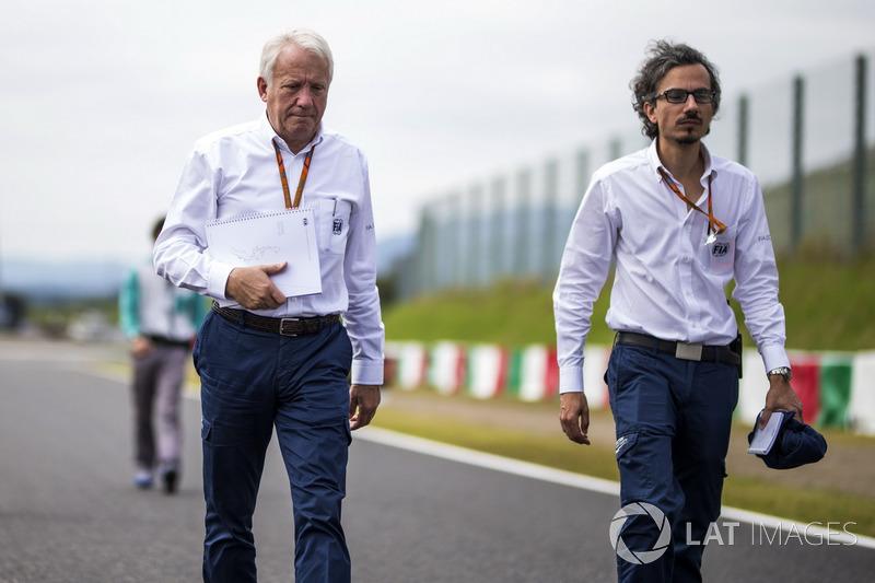 Laurent Mekies, FIA Safety Director, Charlie Whiting, FIA Delegate