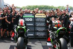 Jonathan Rea, Kawasaki Racing, Tom Sykes, Kawasaki Racing celebrate 100 Kawasaki Racing wins in WSBK