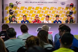 Basın toplantısı Franco Morbidelli, Marc VDS, Valentin Rossi, Yamah Factory Racing, Andrea Dovizioso, Ducati Team, Marc Marquez, Repsol Honda Team, Maverick Viñales, Yamaha Factory Racing, Johann Zarco, Monster Yamaha Tech 3