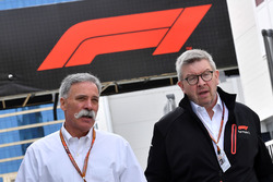 Chase Carey, Chief Executive Officer ed Executive Chairman del Formula One Group e Ross Brawn, Formula One Managing Director del Motorsport
