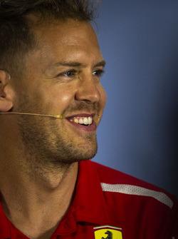Sebastian Vettel, Ferrari, en conférence de presse