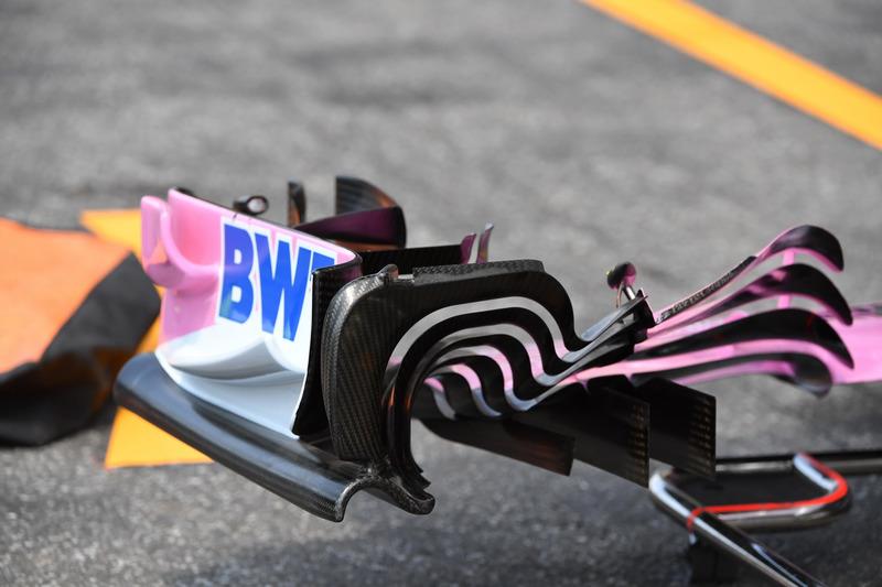 Force India VJM11, első szárny, részlet