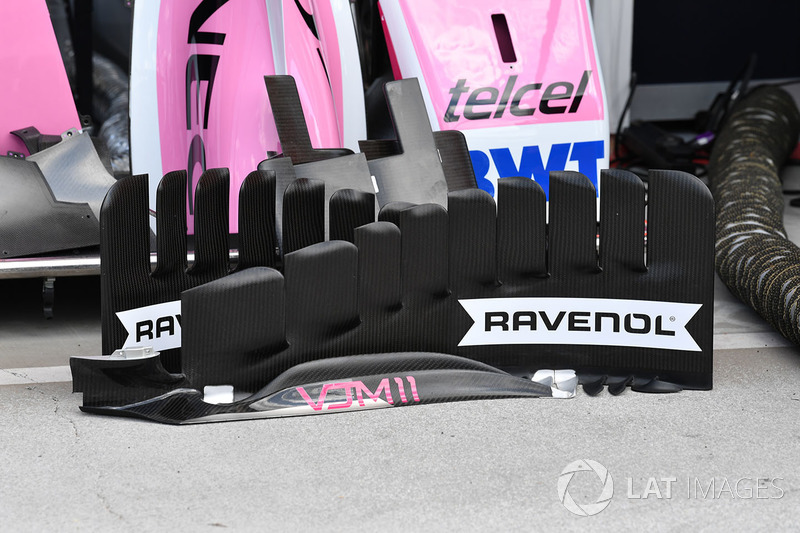 Detail bargeboard Force India VJM11
