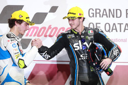 Podio: Lorenzo Baldassarri, Pons HP 40, Francesco Bagnaia, Sky Racing Team VR46