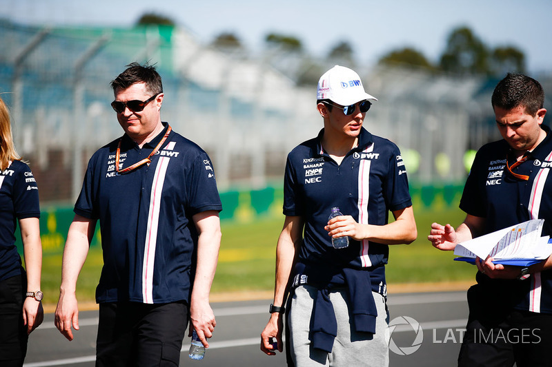 Track walk with Esteban Ocon, Force India