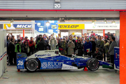 Japanese fans with the car of Indy 500 winner Takuma Sato