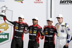 Victory lane, second place P: #31 Action Express Racing Cadillac DPi: Felipe Nasr, Eric Curran, Mike