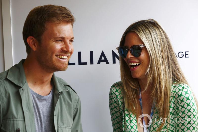 Nico Rosberg e la moglie Vivian Sibold