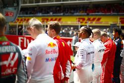 Макс Ферстаппен, Red Bull Racing, Себастьян Феттель, Ferrari, Льюис Хэмилтон и Валттери Боттас, Mercedes AMG F1